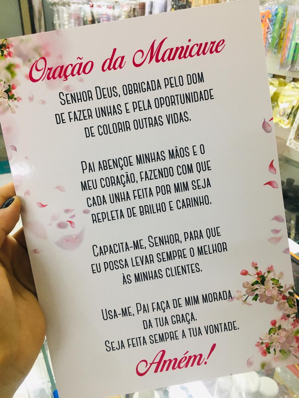Quadro decorativo oração da manicure  - Sílvia Pedrarias & Cia