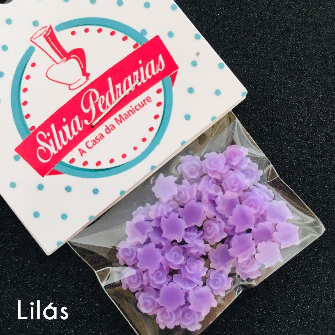 Rosa 3d 5mm varias opcoes em cores (pedraria)  - Sílvia Pedrarias & Cia