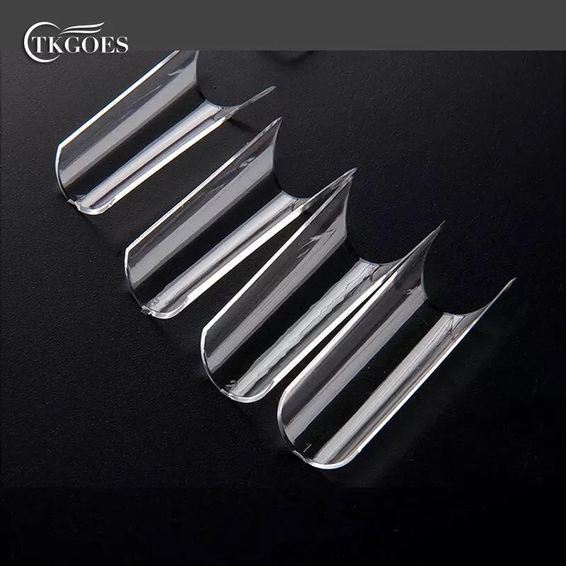 Saquinho com 500 tips curvatura C transparente   - Sílvia Pedrarias & Cia