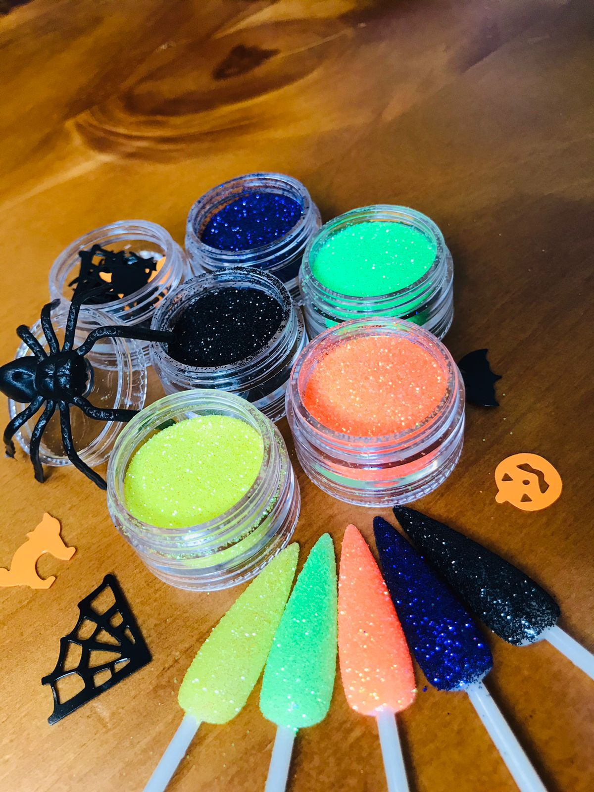 Torre glitter holográfico halloween para decoração de unhas + brindes exclusivos  - Sílvia Pedrarias & Cia