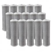 Kit 15 Unidades Refil Filtro BBI Carbon Block Encaixe para Carcaças de 9