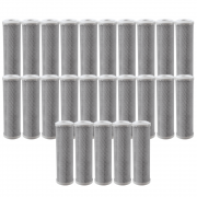 Kit 25 unidades Refil Filtro BBI Carbon Block Encaixe para Carcaças de 9.3/4