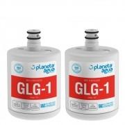 Kit 2 Refil Filtro Planeta Água compatível com Geladeira Refrigerador LG LT500P