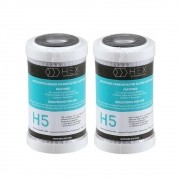 Kit 2 Refil Filtro Purificador Carbon Block 5'' Hex H5