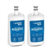 Kit 2 Unidades Refil Filtro Planeta Água Acquatec compatível com Purificador de Água Esmaltec Purágua Acqua 7