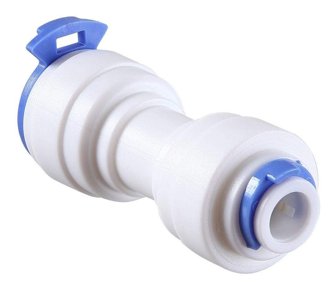 2 Emenda União Engate Rápido 1/4 X 1/4 Conector Reto Para Tubo Mangueira Para Filtro Purificador De Água  - SUPERFILTER