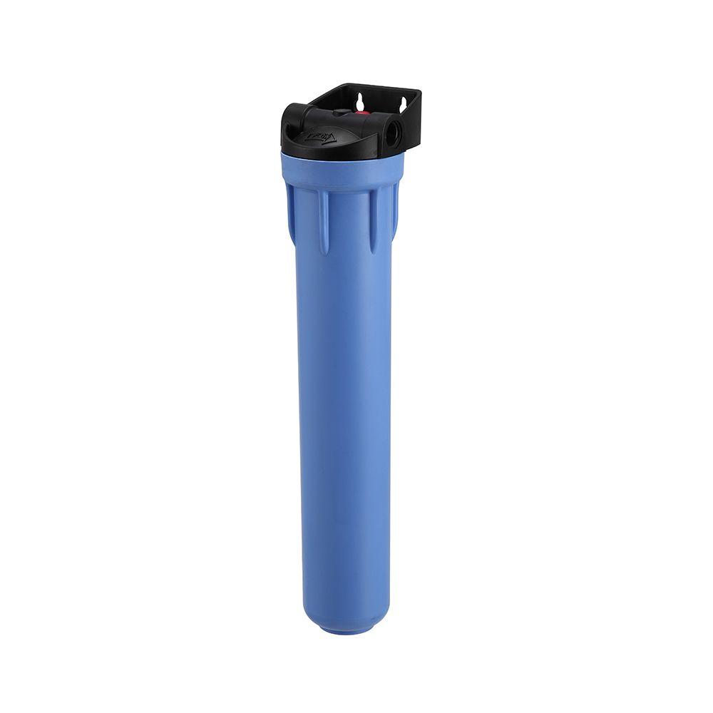 """Carcaça Pentair Pentek Polipropileno 20"""" x 2,5"""" Serie Profissional 3G Azul com Suporte Acoplado  - SUPERFILTER"""