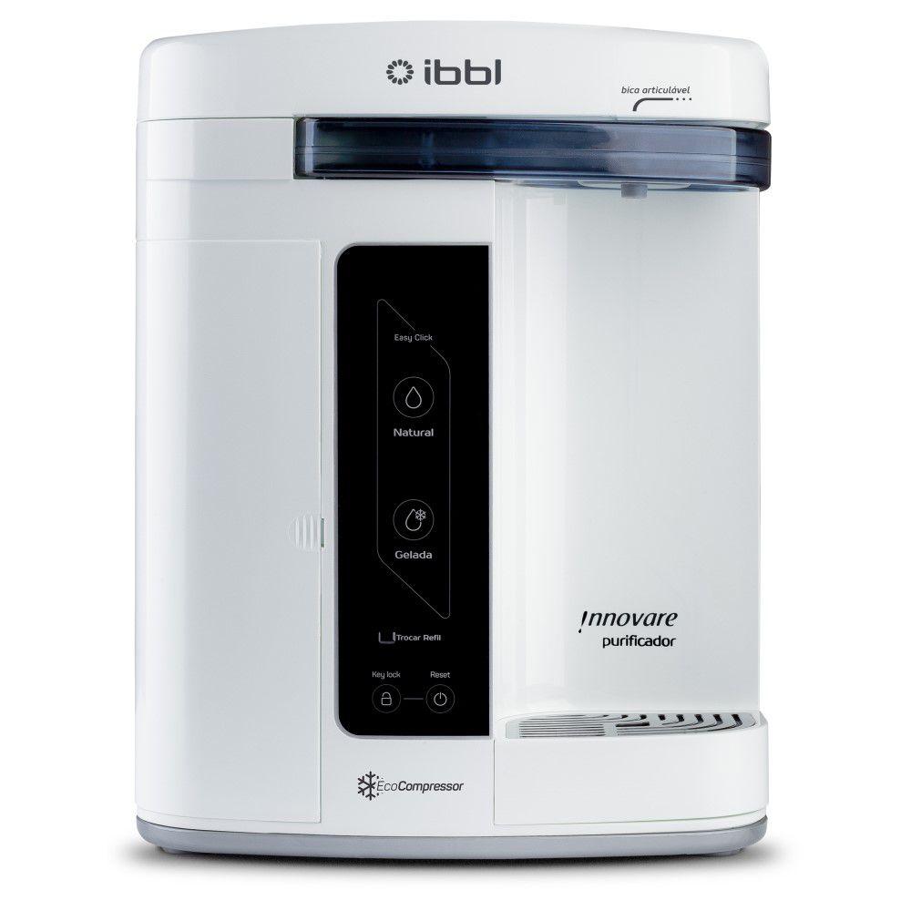Purificador de Agua Gelada Refrigerado IBBL Innovare Branco 110v + Refil Extra