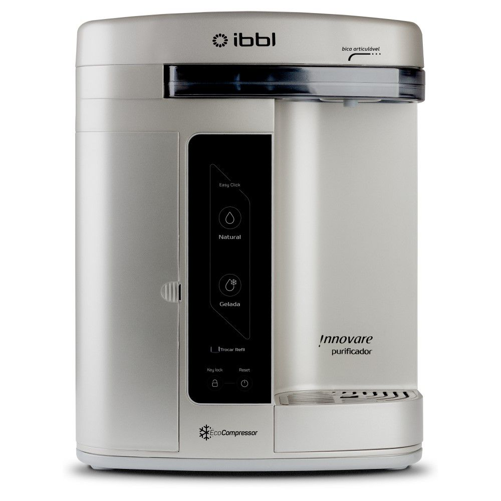 Purificador de Agua Gelada Refrigerado IBBL Innovare Prata 110v + Refil extra