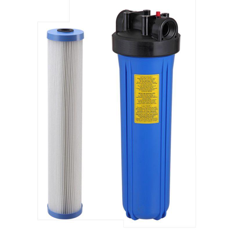 Filtro BIG Blue 20 x 4,5 - BBI c/ chave e suporte e refil Plissado Lavável