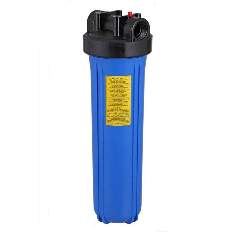 Kit Carcaça Filtro BIG Blue BBI 20 x 4,5 polegadas + Refil Filtro Plissado de Poliéster BBI Big Blue Lavável 20 x 4.1/2 + Chave e Suporte  - SUPERFILTER