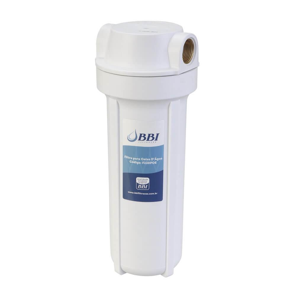 Filtro Carcaça BBI POE230 CBB9.3/4M com Refil Plissado Poliéster Lavável BBI PL10 Alta Vazão