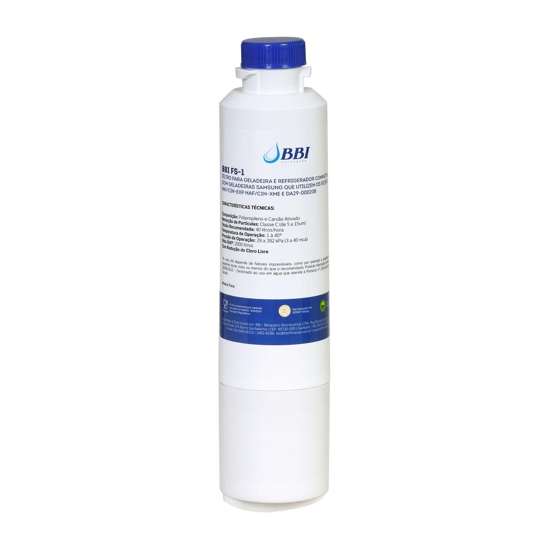 Filtro Interno BBI FS-1 Geladeira Refrigerador Samsung Haf-cin/exp Da29-00020b
