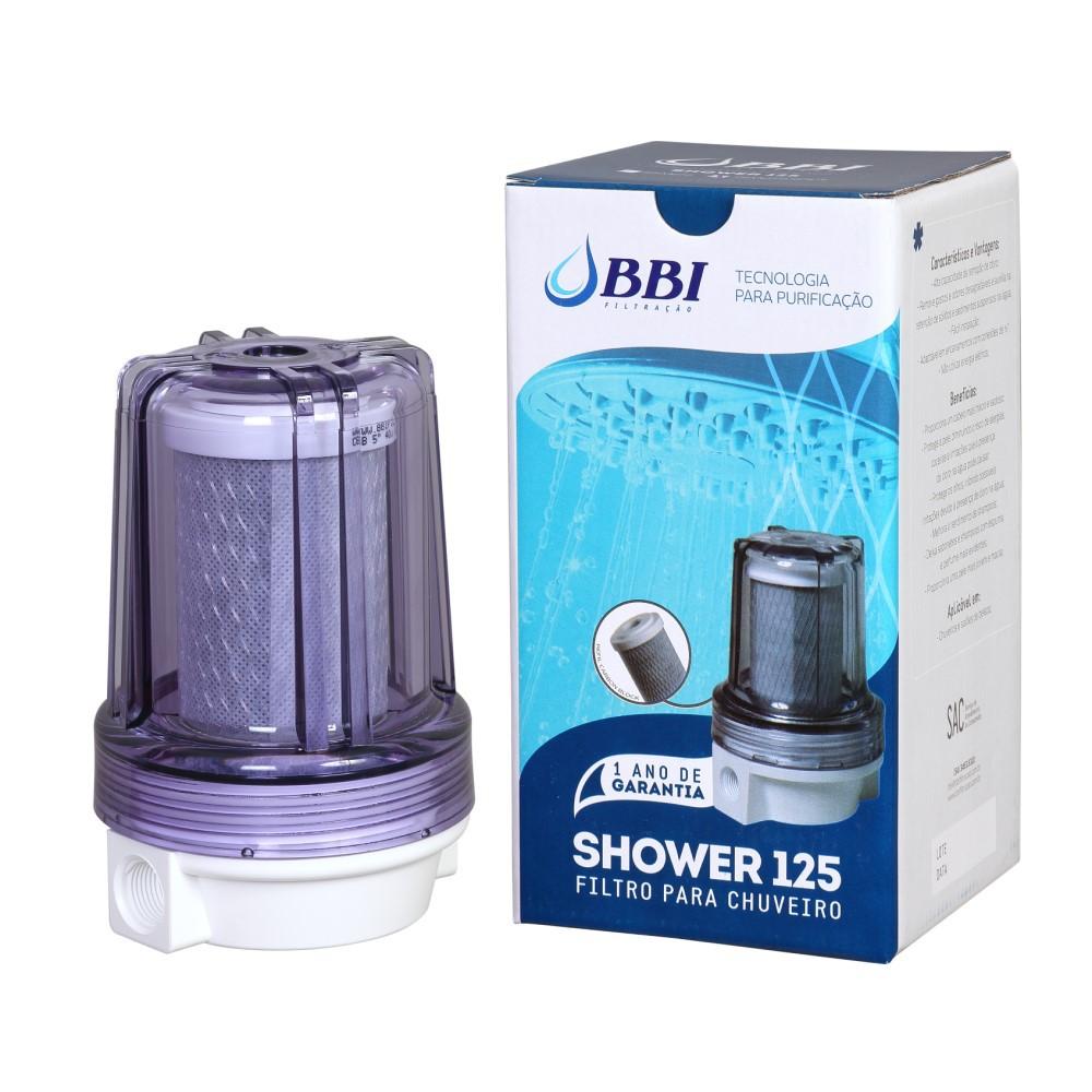 """Filtro para Chuveiro e Ducha BBI SHOWER 125TR Transparente 5"""""""