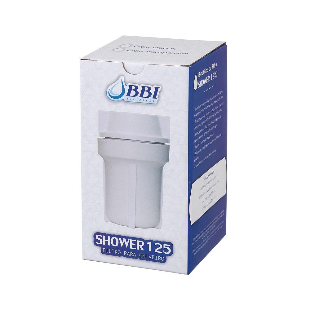 """Filtro para chuveiro SHOWER125BR Branco 5""""  - SUPERFILTER"""