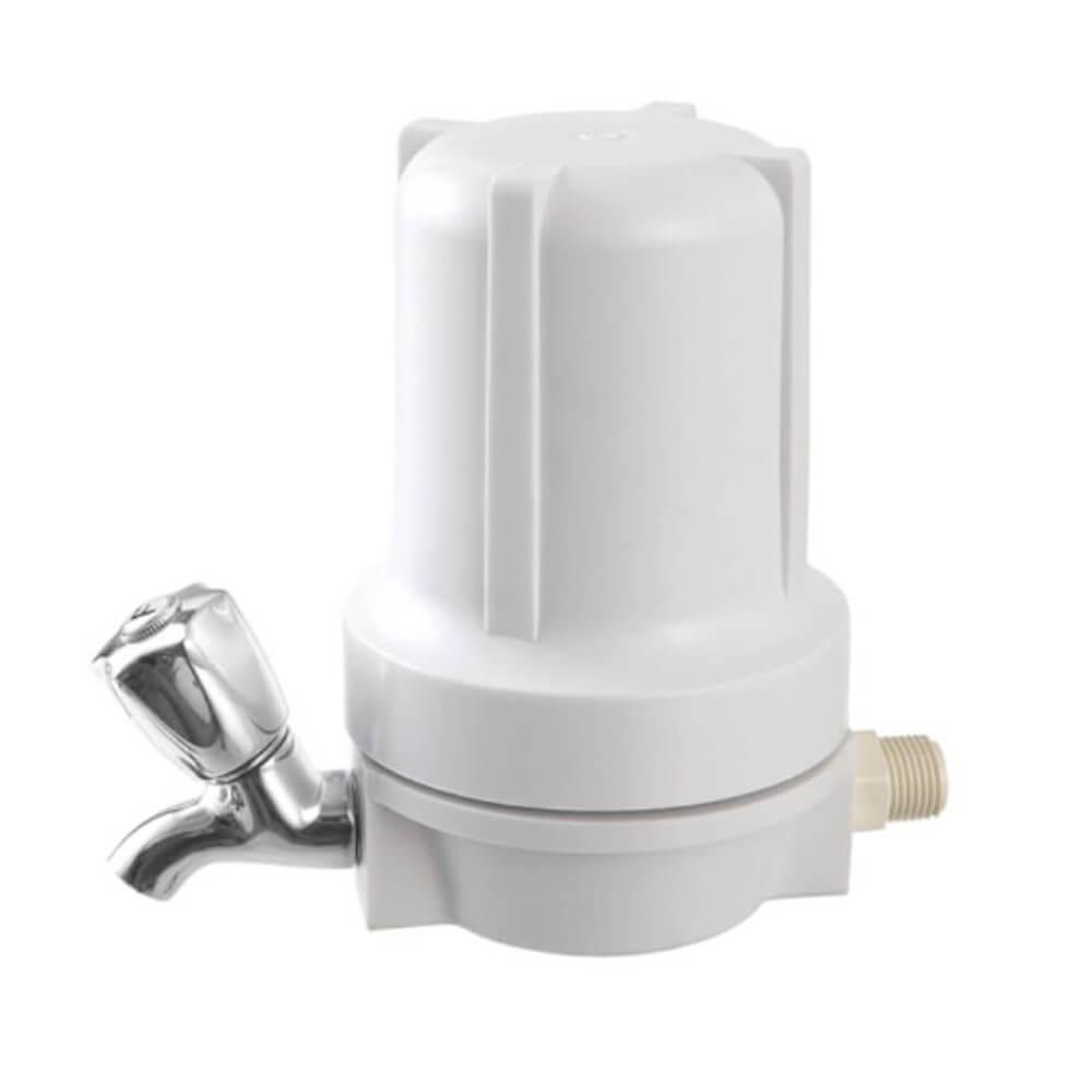 Filtro para Ponto de Uso BBI Branco F125BR/COMP com Torneira de Metal Cromada