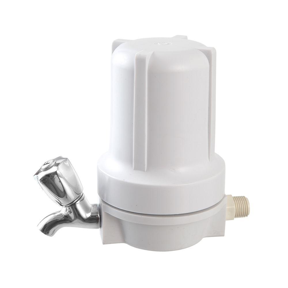 Filtro para Ponto de Uso BBI Branco F125BR/COMP com Torneira de Metal Cromada  - SUPERFILTER