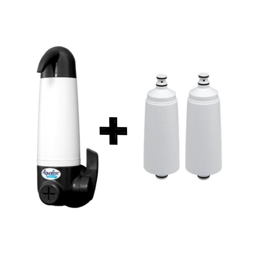 Filtro Purificador de água 3m Aqualar Aquapurity Grafite + 02 Refis