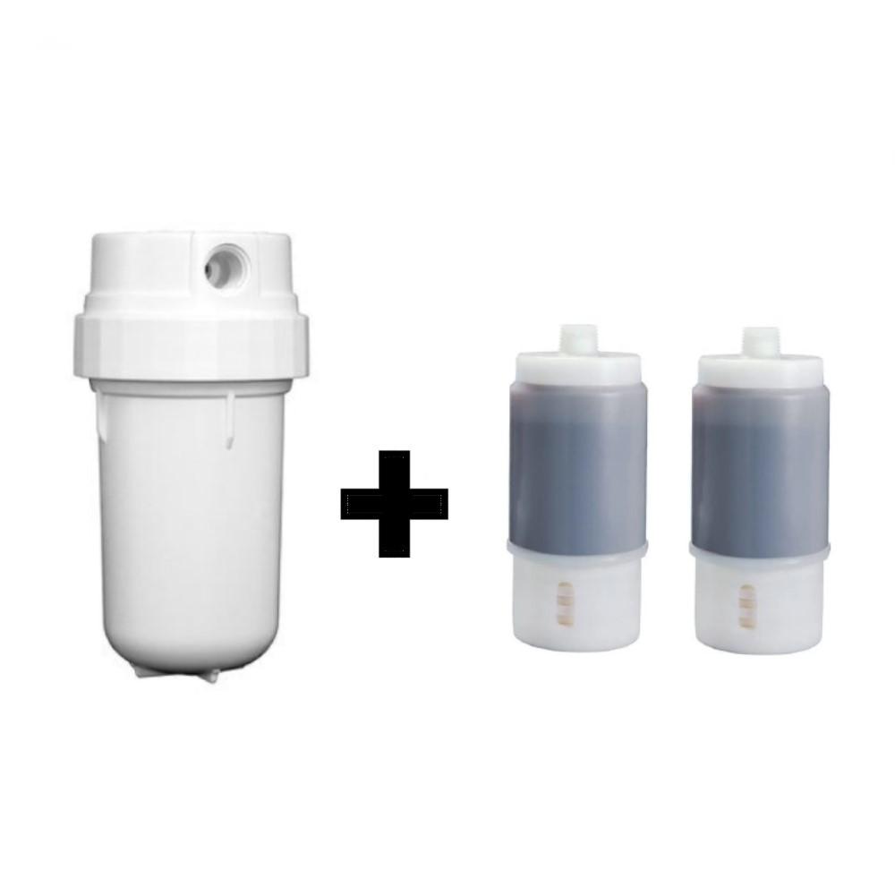 Filtro Purificador de água 3M Aqular AP200 Branco Remove Cloro + 02 Refis