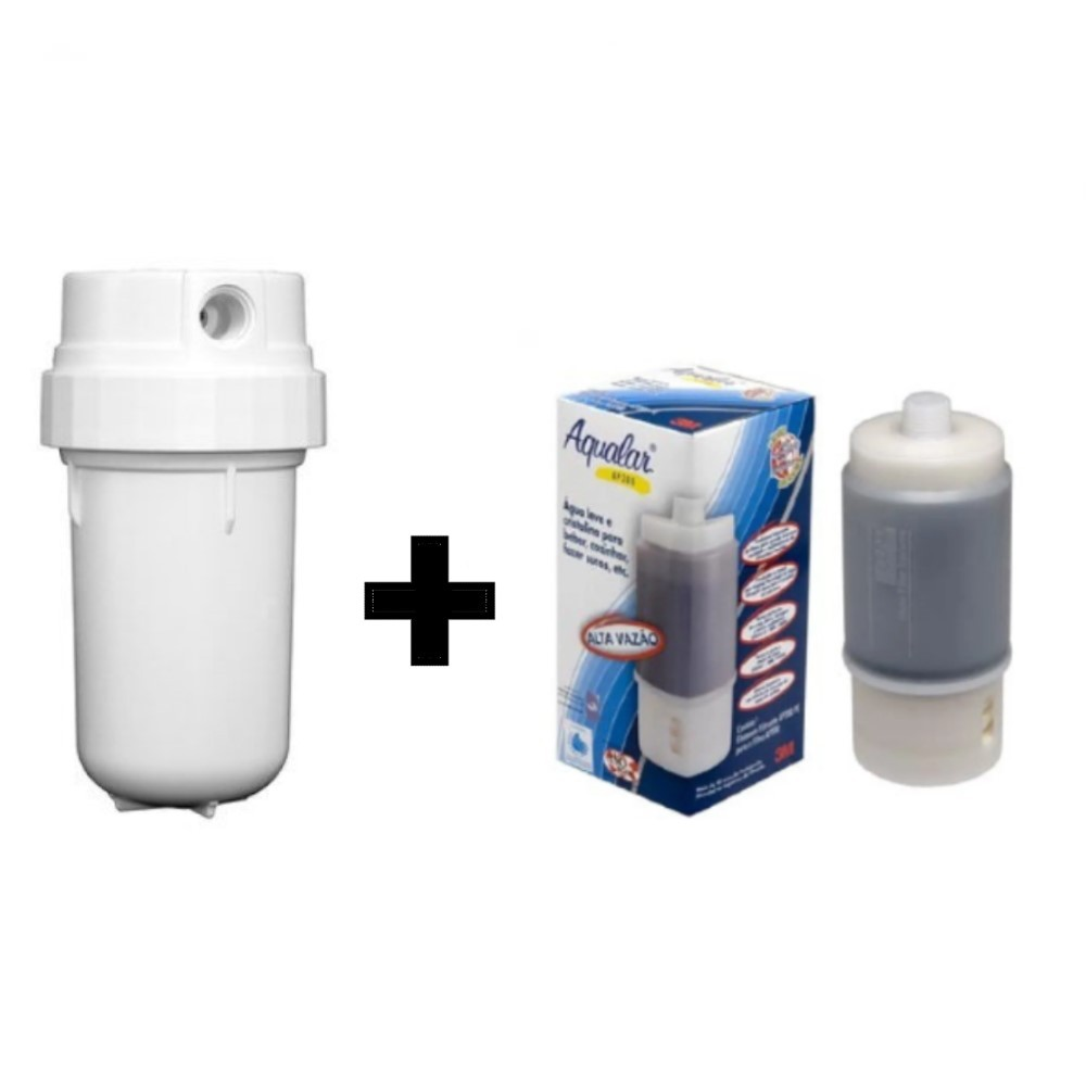 Filtro Purificador de água 3M Aqular AP200 Branco Remove Cloro + Refil