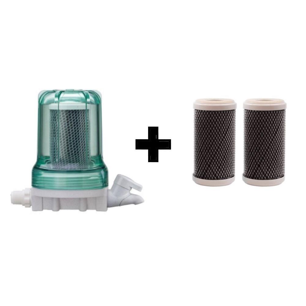 Filtro Purificador de água com torneira 3M Aqualar Bella Fonte Verde + 02 Refis