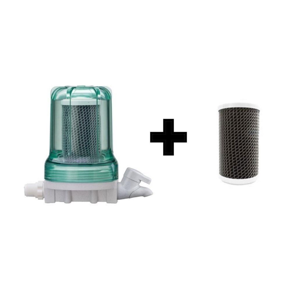 Filtro Purificador de água com torneira 3M Aqualar Bella Fonte Verde + Refil