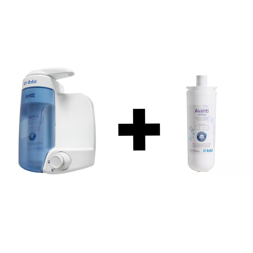 Filtro Purificador de Água Natural IBBL Avanti Com Refil Extra