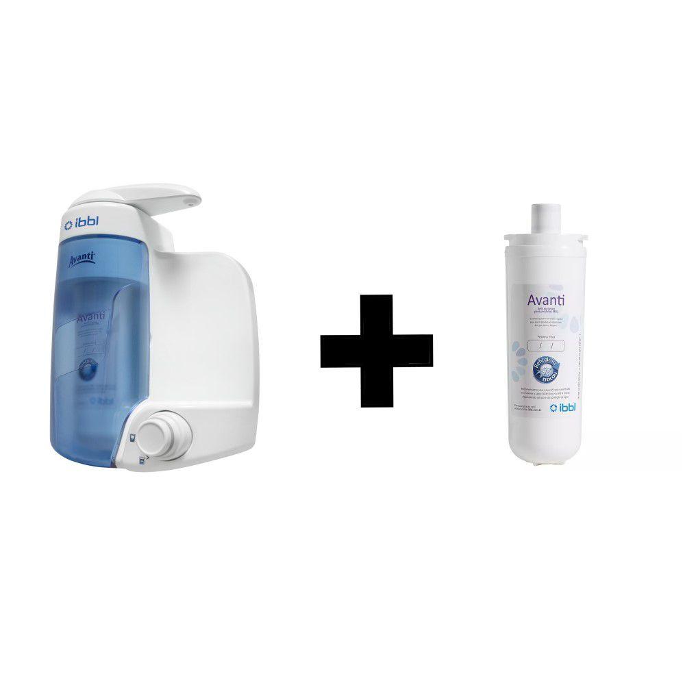 Kit Purificador de Água IBBL Avanti Branco + Refil Filtro Extra Original