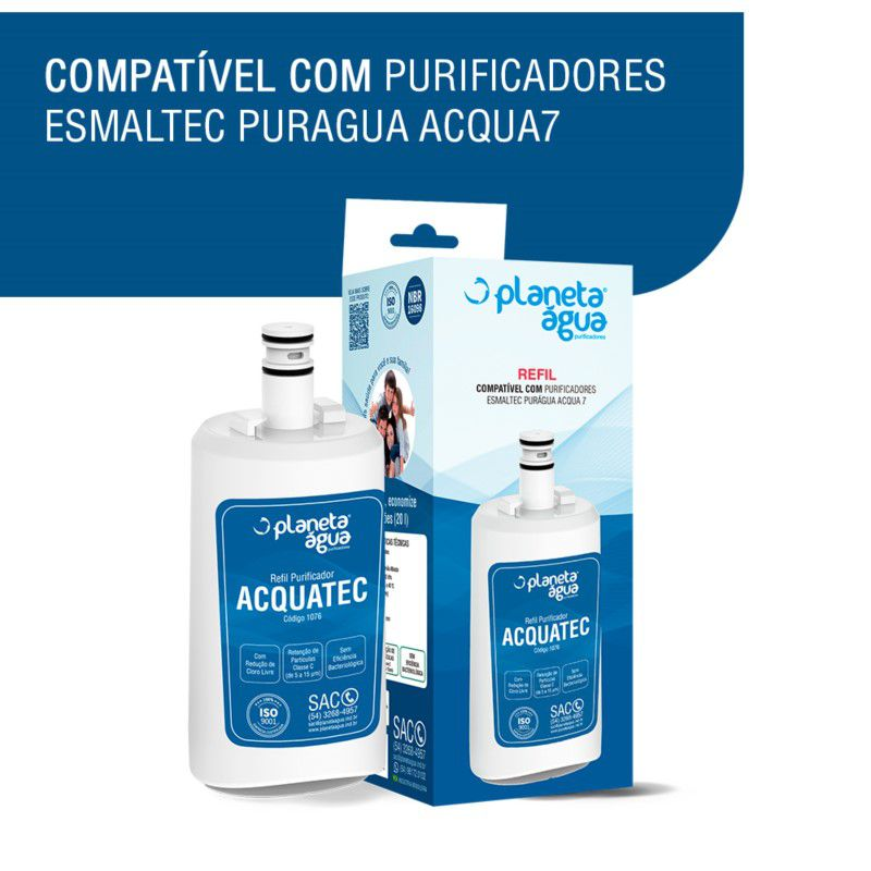 KIT 2 Refil Acquatec para purificador Esmaltec Acqua7