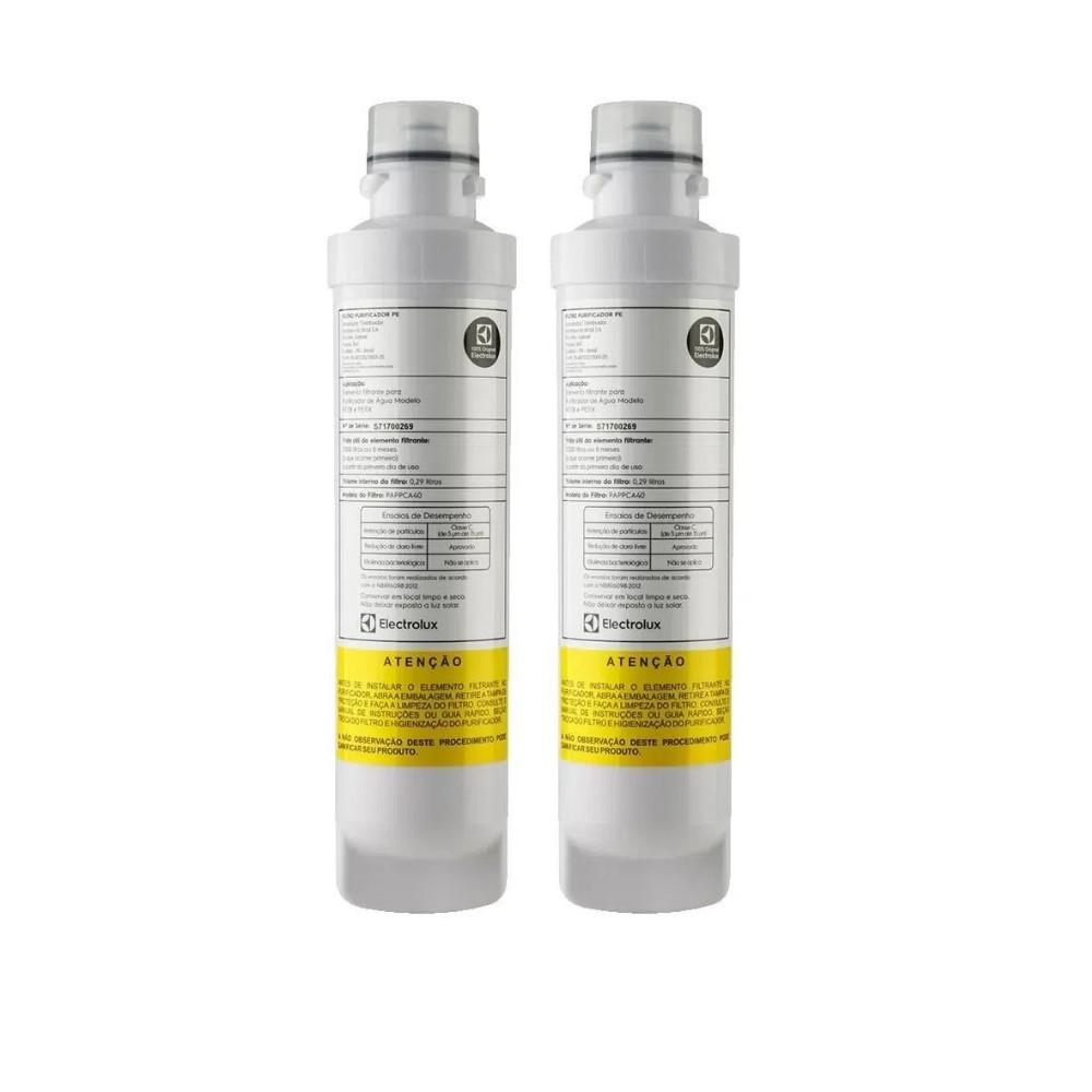Kit 2 Refil Filtro Electrolux Original para Modelos PAPPCA20, PE10B e PE10X