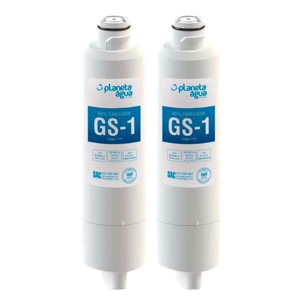 Kit 2 Refil Filtro Planeta Água compatível com French Door Samsung HAF-CIN-EXP