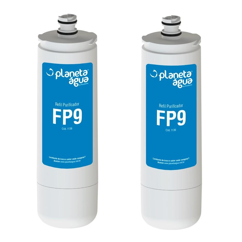 Kit 2 Refil Filtro Purificador FP9 para Docol Bica Mesa, Misturador e Torneira Cozinha  - SUPERFILTER