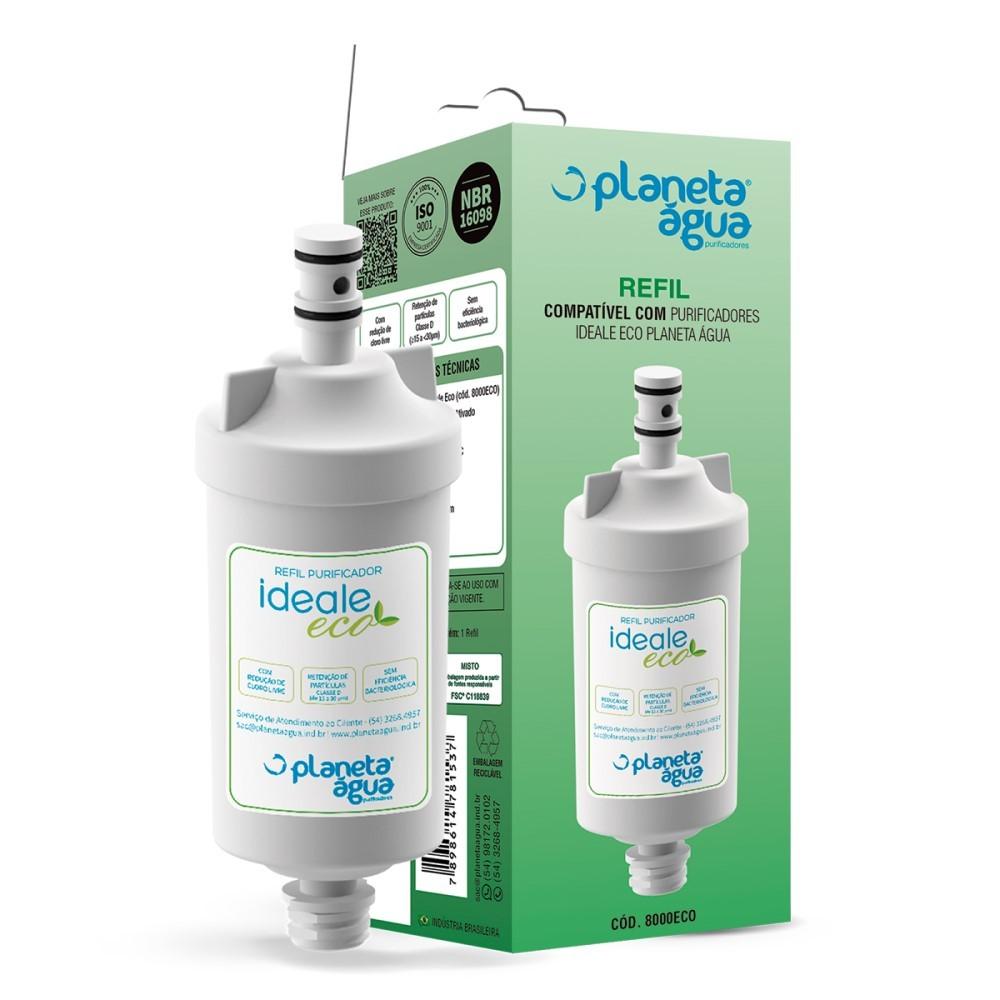 Kit 2 Refil Filtro Purificador Planeta Água Ideale Eco e Eco Decor Original  - SUPERFILTER