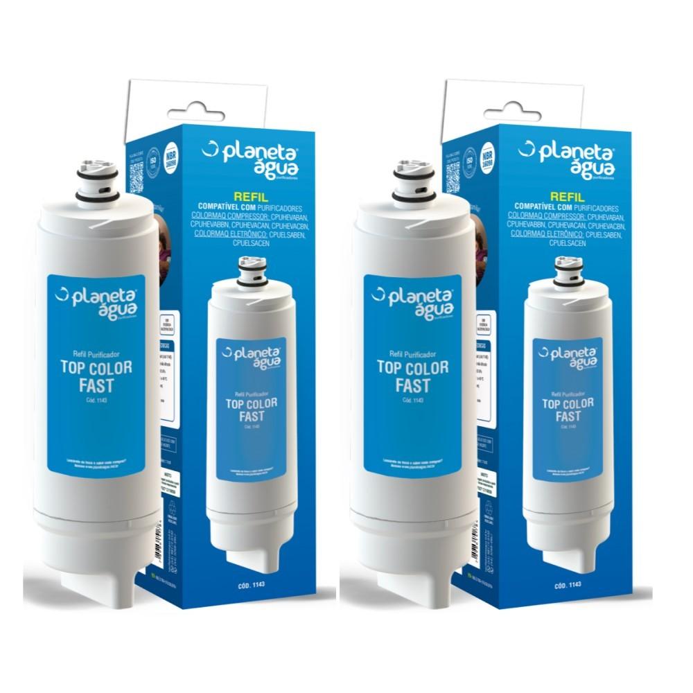 Kit 2 Refil Filtro Purificador Top Color Fast para Colormaq Acqua Eletronico e Compressor