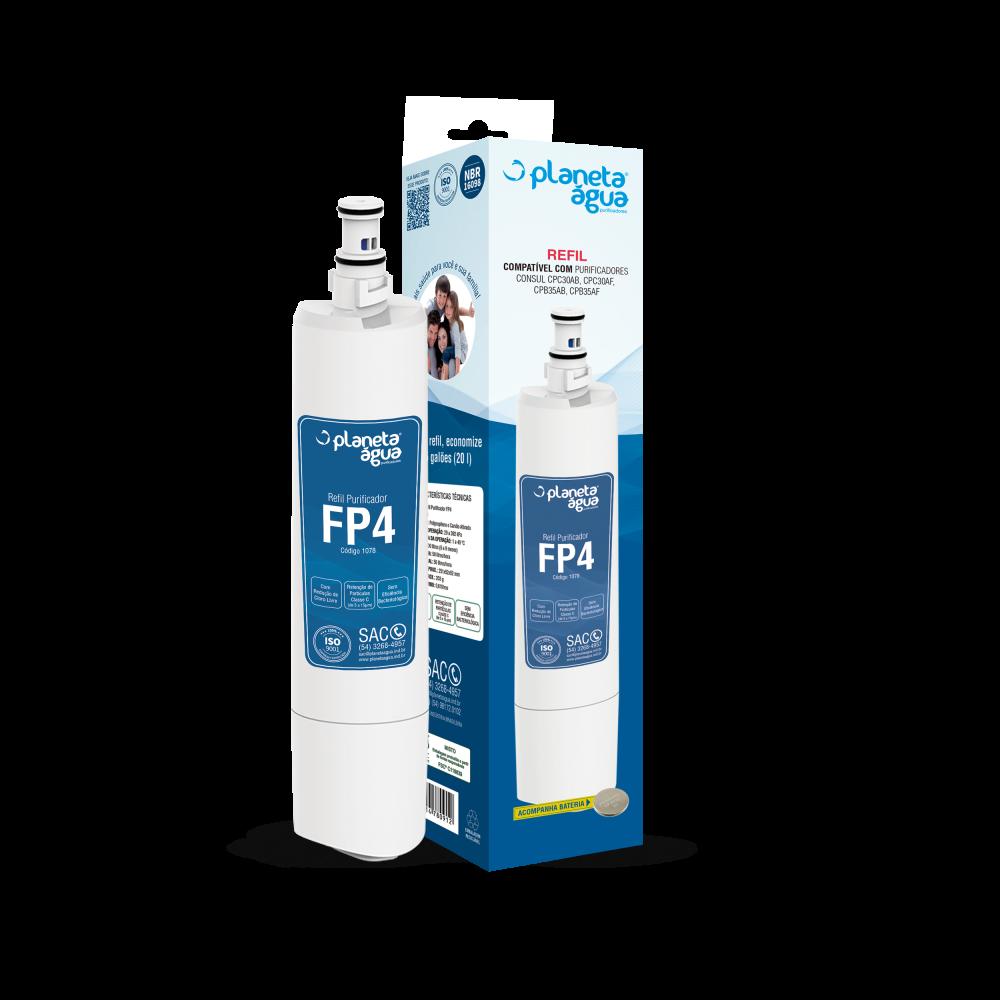Kit 2 Unidades Refil Filtro Planeta Água FP4 Compatível Purificador Consul Facilite Bem Estar  - SUPERFILTER