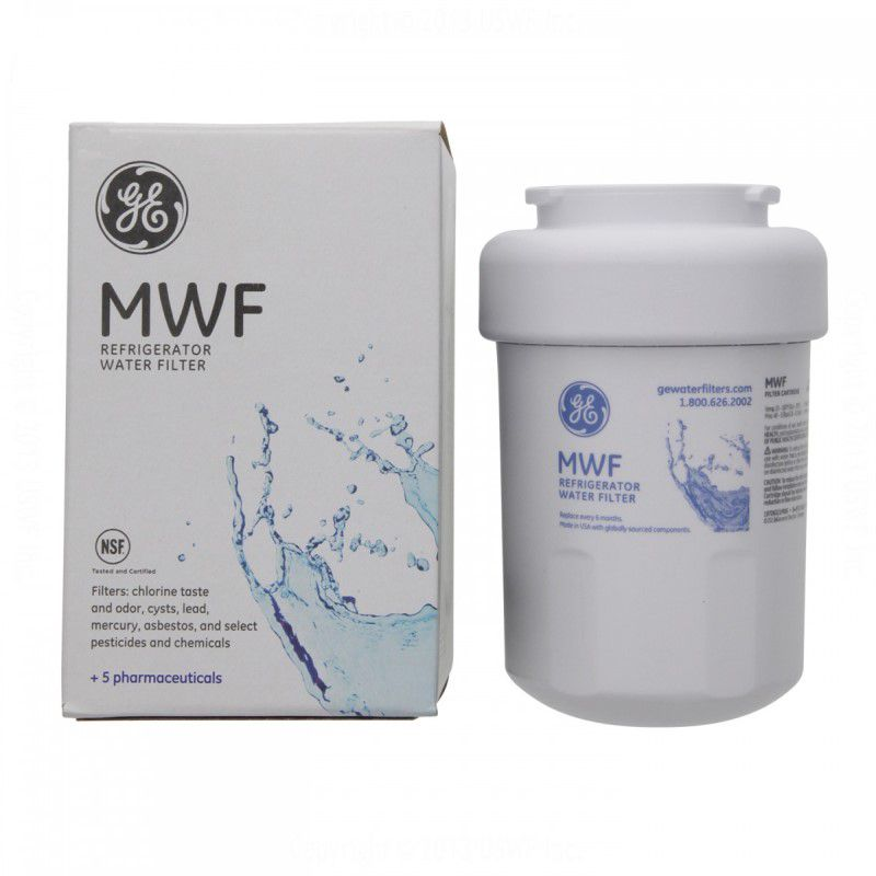 Kit 2 unidades Refil Filtro GE MWF Geladeira Refrigerador Side-by-Side e Bottom-Freezer GE Original - SUPERFILTER