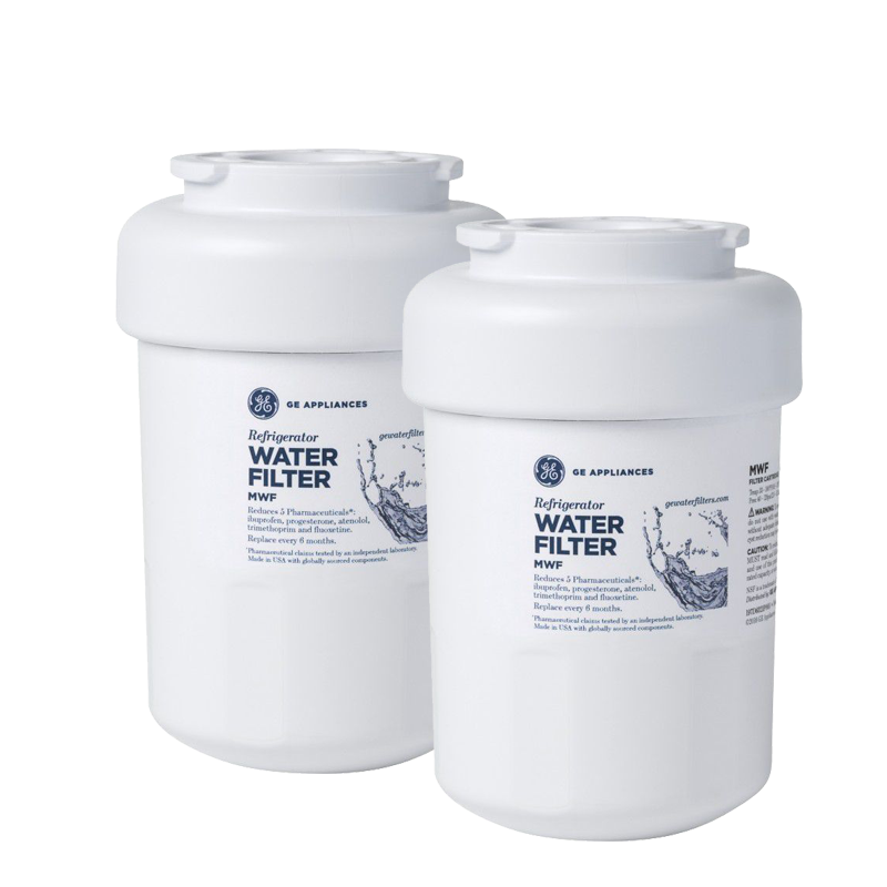 Kit 2 unidades Refil Filtro GE MWF Geladeira Refrigerador Side-by-Side e Bottom-Freezer GE Original