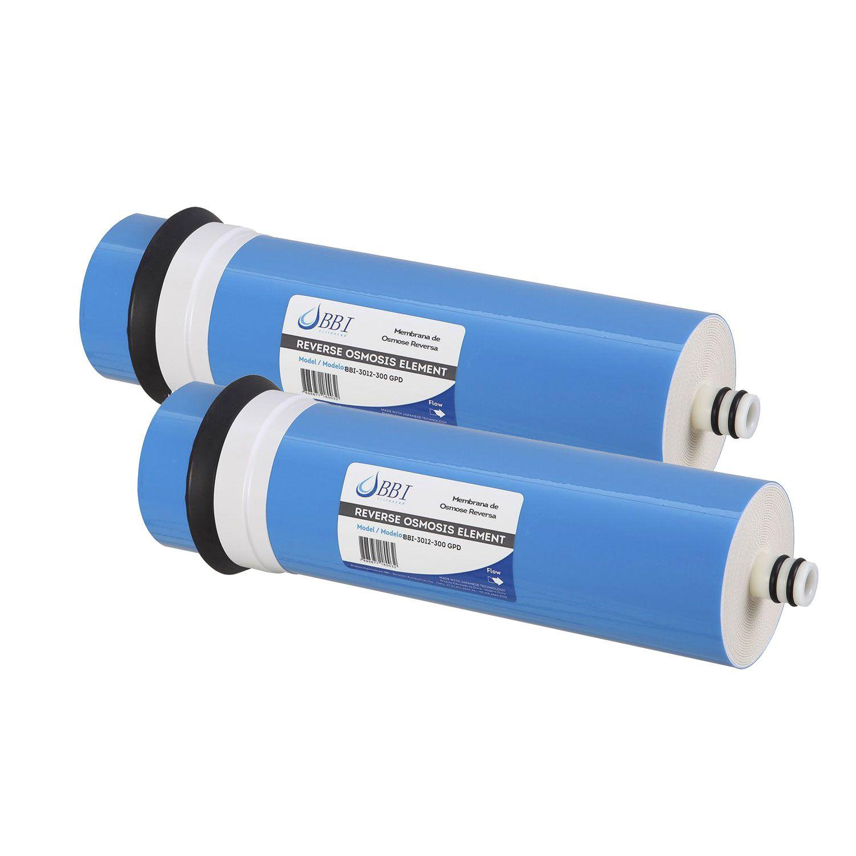 Kit 2 unidades Membrana de Osmose Reversa BBI 300 GPD 3012  - SUPERFILTER