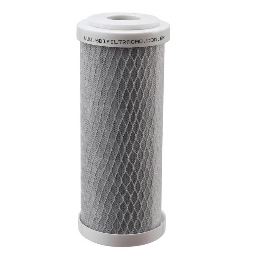 "Kit 2 Unidades Refil Filtro Carbon Block BBI 7"" x 2,5'' E200/5 Encaixe"