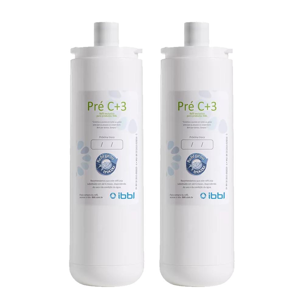 Kit 2 Unidades Refil Filtro IBBL Pré C+3 Original para Modelos PFN 2000, PDF e Smart H2O
