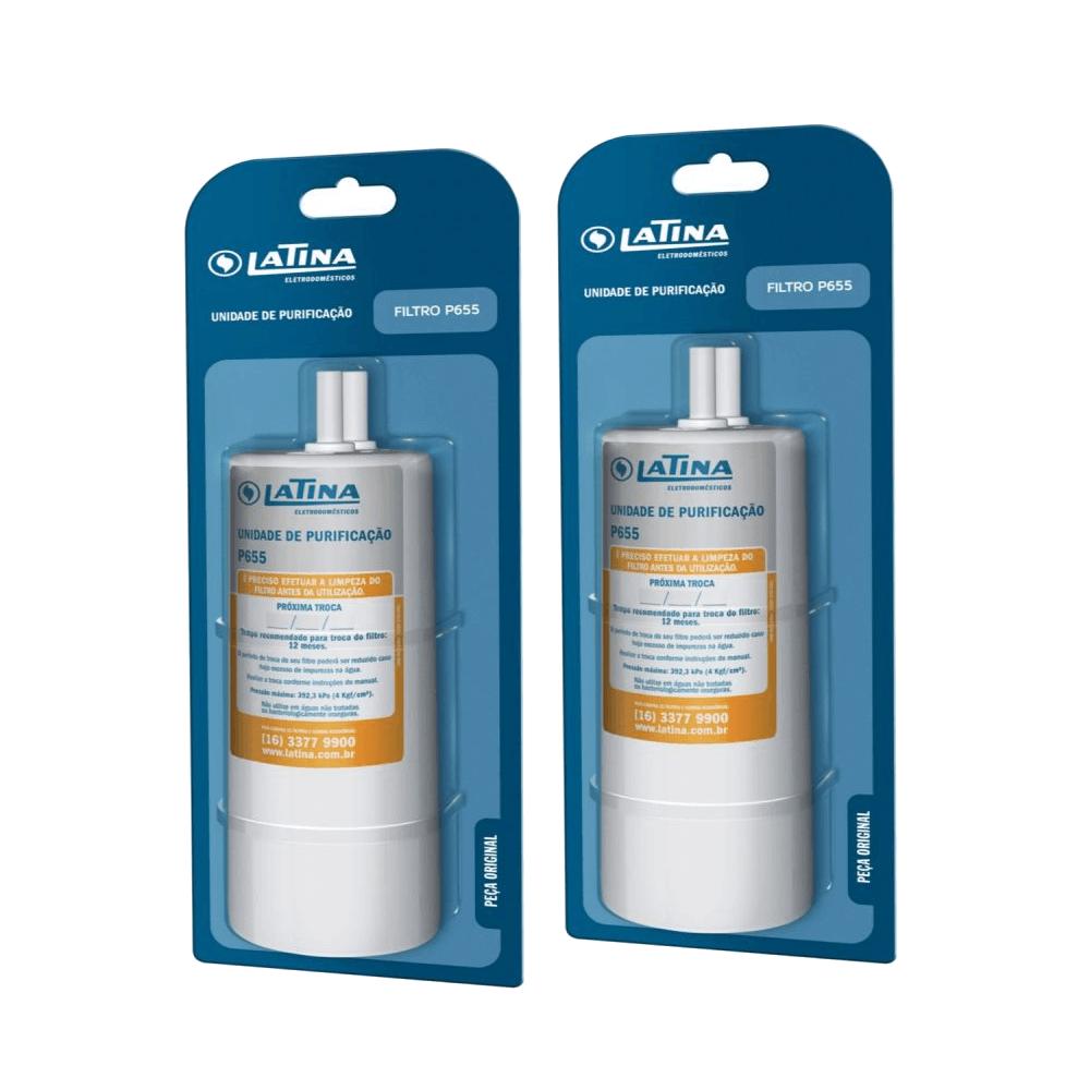 Kit 2 Unidades Refil Filtro Latina P655 Original para Purificador Purefive Vitamax e outros