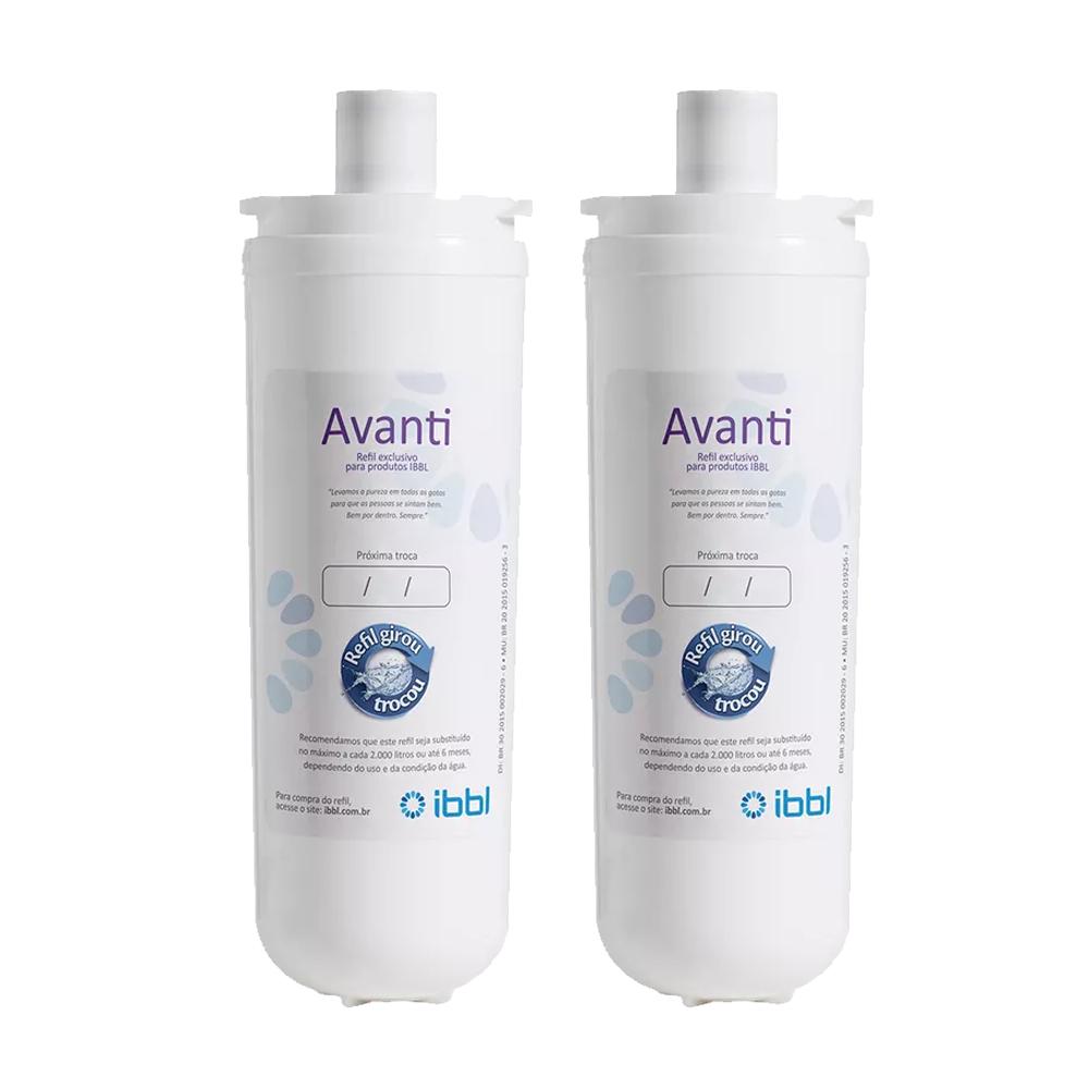 Kit 2 Unidades Refil Filtro Original Purificador de Água IBBL Avanti para modelos Mio, Avanti e Viváx  - SUPERFILTER