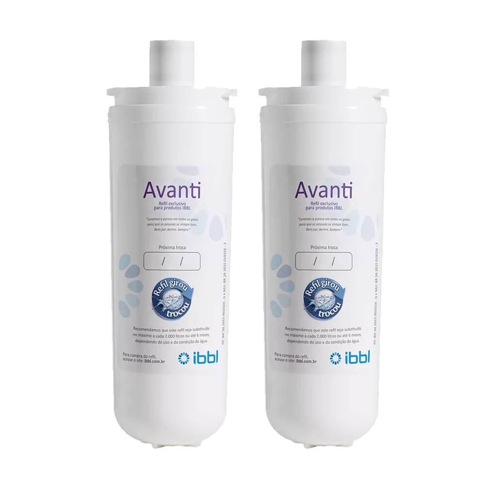 Kit 2 Unidades Refil Filtro Original Purificador de Água IBBL Avanti para modelos Mio, Avanti e Viváx