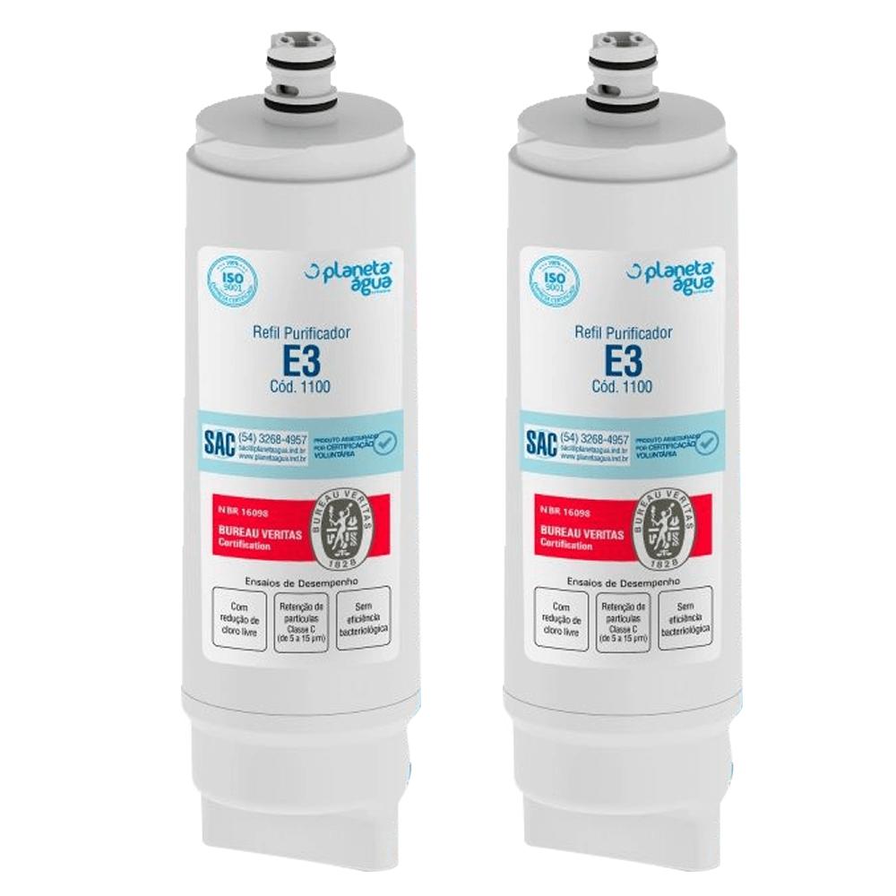 Kit 2 Unidades Refil Filtro Planeta Água E3 1100 Compatível com IBBL Fr600 Immaginare Evolux