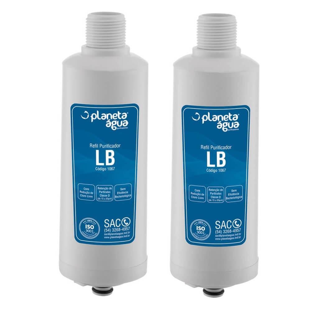 Kit 2 Unidades Refil Filtro Planeta Água LB compatível com Purificador de Água Libell Acqua Flex