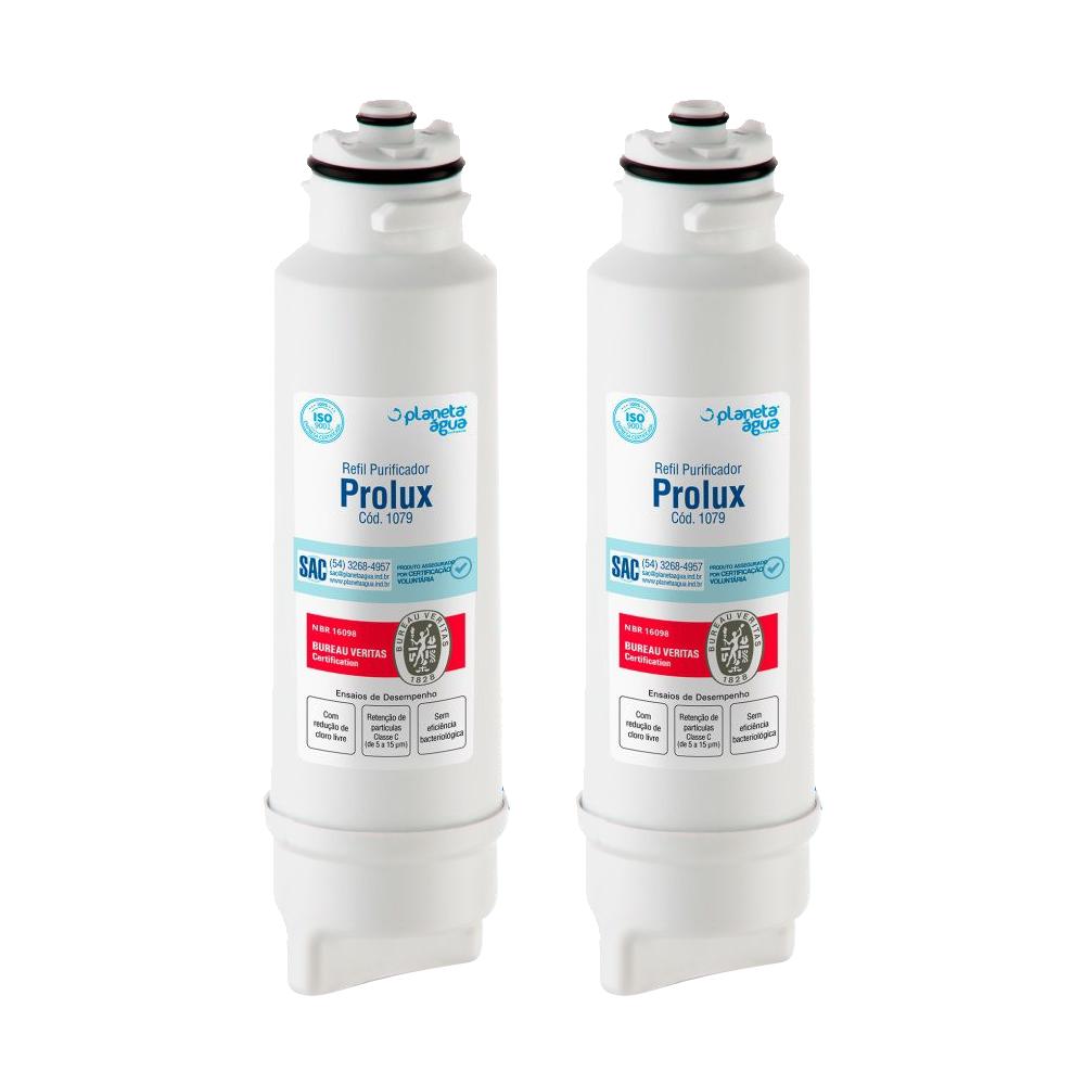 Kit 2 Unidades Refil Filtro Planeta Água Prolux 1079 Compatível com Eletrolux PA10N PA20G PA25G PA30G PA40G