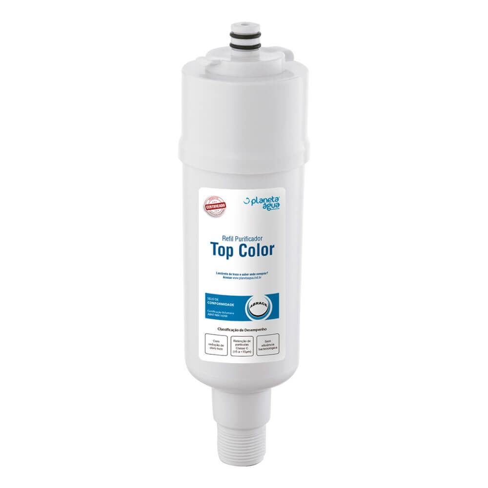 Kit 2 Unidades Refil Filtro Planeta Água Top Color Compatível com Purificador de Água Colormaq