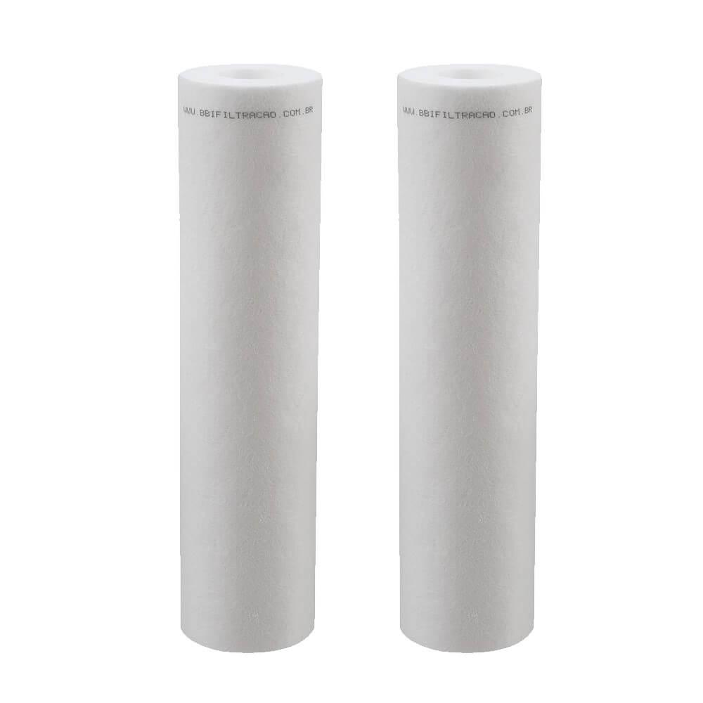 """Kit 2 Unidades Refil Filtro Polipropileno BBI 9""""3/4 PP10/20B"""