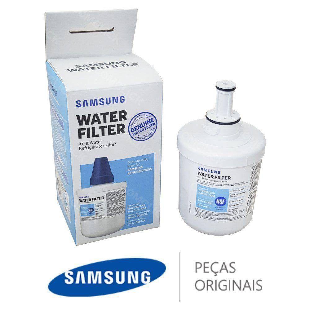 Kit 2 unidades Filtro Interno Geladeira Refrigerador Samsung Side-by-Side Aqua-pure Plus Hafin2/Exp Hafin2 Original  - SUPERFILTER