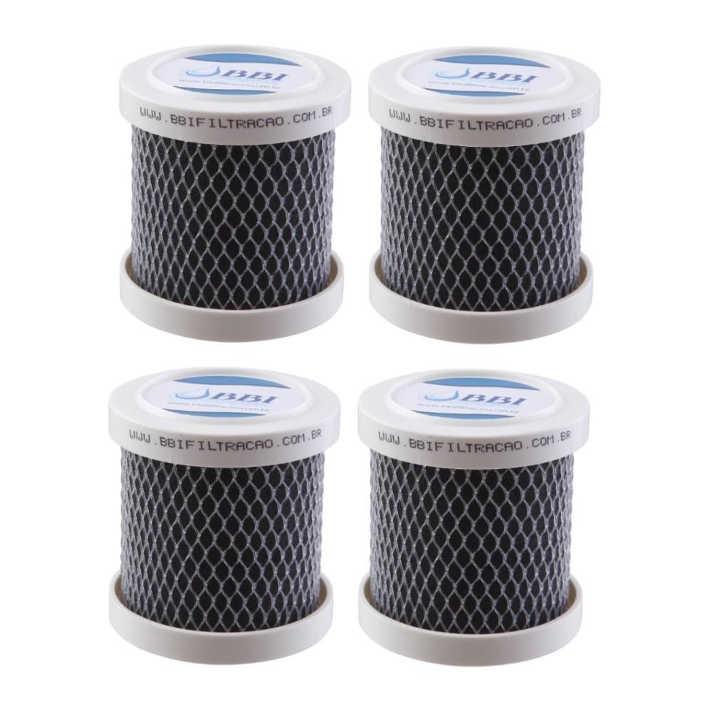 Kit 4 Carvão Ativado Para Geladeira Remoção De Cheiro Odor Bbi Odorless Desodorizador